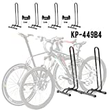Adjustable 4 Bike Floor Parking Rack Storage Stand Bicycle