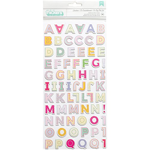 American Crafts Paige Evans Oh My Heart Thickers 141 Piece Chipboard Alpha