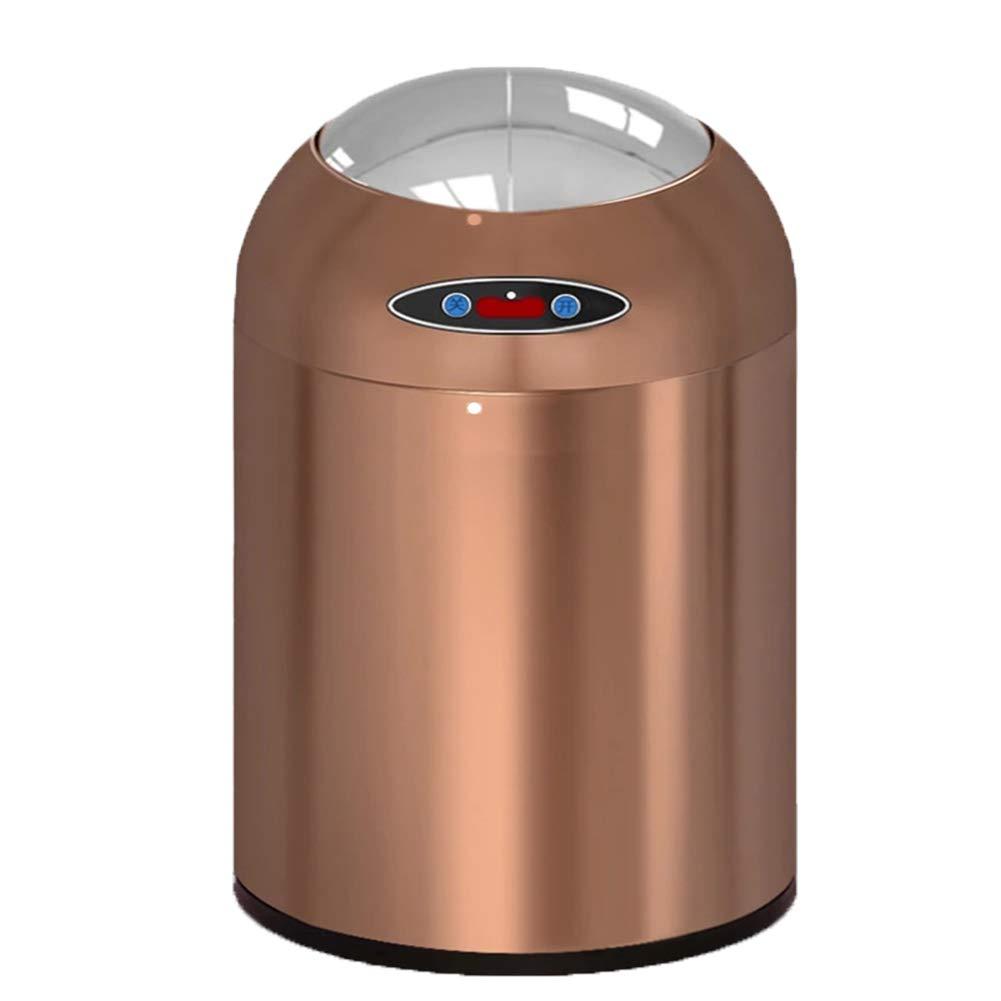 ABLUD Automatische Küche Touchless Sensor Abfallbehälter Edelstahl Mülleimer Küche Badezimmer Müll Container Hause Mülleimer,Offwhite,6L