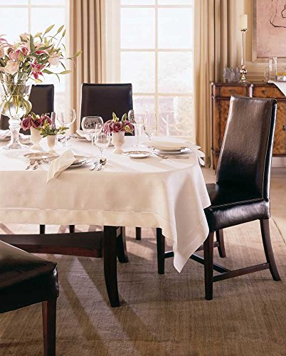 Classico by Sferra - Round Linen Tablecloth 120 inches x 0 (White)