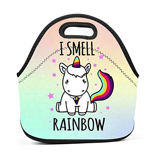 Lunch Bag Food Box Portable Carry Storage Tote Picnic Handbag for School Work Office Print Cute Rainbow for $<!--$19.98-->