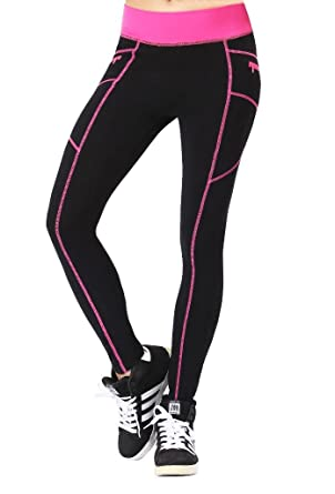 66c9b1b1198b4 Neonysweets Womens Outdoor Cotton Fitness Tights Leggings Running Yoga  Pants Phone Pockets: Amazon.co.uk: Clothing