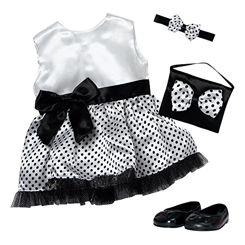 Adora Amazing Girls 18 Doll Clothes - Polka Dot Party Dress Outfit with Dress, Headband, Shoes, and Purse (Amazon Exclusive)