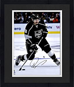 "Framed Drew Doughty Los Angeles Kings Autographed 16"" x 20"" Black Jersey Shooting Photograph - Fanatics Authentic Certified"
