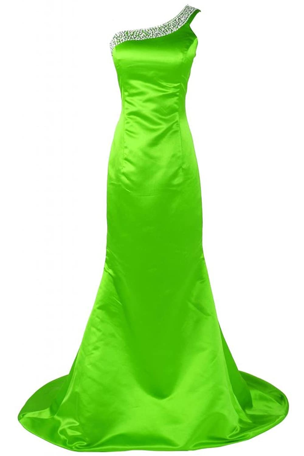 Sunvary Charming Satin Mermaid Long Evening Pageant Dress Prom Dress