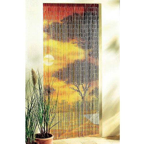 Bambusvorhang Turvorhang 90 X 200cm Sonnenuntergang Raumteiler