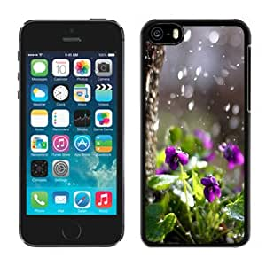 New Beautiful Custom Designed Cover Case For iPhone 5C With Nature Purple Flower Plant Beside Tree Bokeh Phone Case