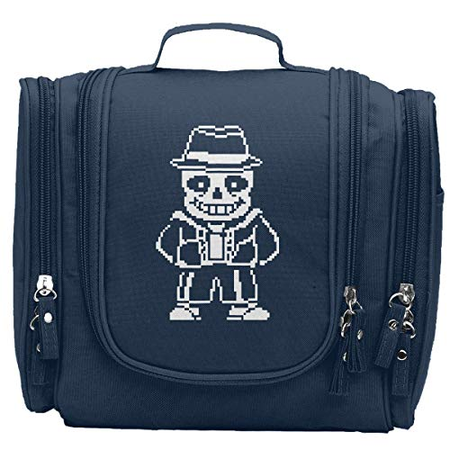 Undertale Sans Cosmetic Bag Fashion Hanging Portable Travel Toiletry Bag For Women