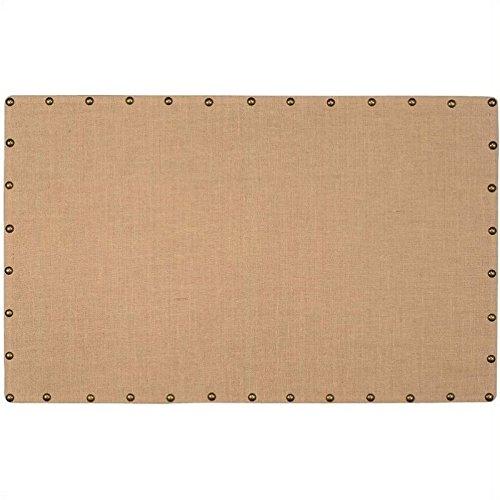 - Pemberly Row Large Nailhead Corkboard in Burlap