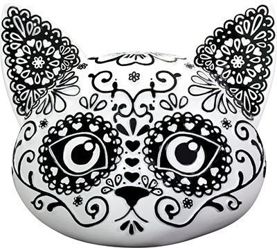 SUMMIT COLLECTION Day of The Dead Kitty Cat Sugar Head Figurine -