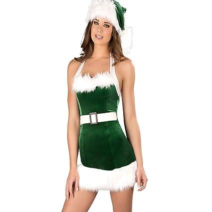 Amazon.com: CVCCV - Disfraz de Navidad para mujer, diseño de ...