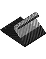ZOBER Slack/Trousers Pants Hangers - Strong and Durable Anti-Rust Chrome Metal Hangers, Non Slip Rubber Coating, Slim & Space Saving, Open Ended Design for Easy-Slide Pant, Jeans, Slacks Etc