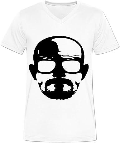 blackwhitem para hombre Bad Heisenberg camisetas algodón cuello en ...