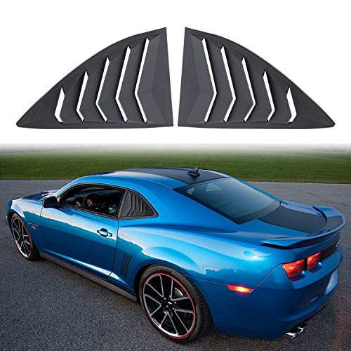- 2PCS Quarter Side Window Louvers ABS Window Cover Vent Lambo Style for Camaro 2010-2015 LS LT RS SS GTS