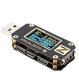 USB Tester ,Type-C QC2.0/3.0/PD Digital Voltage Current Amp Meter Power Bank Detector , Voltage Current tester