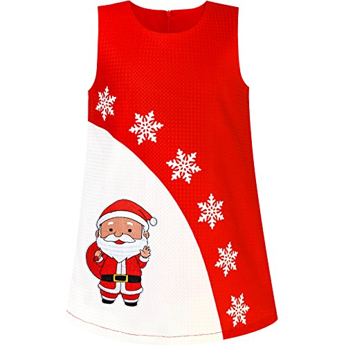 Filles Habillent Une Ligne De Noël Arbre De Noël Fête Sequin De Vacances Rouge Pétillant 2