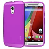 Tudia Ultra Slim Lite TPU Bumper Protective Case for Motorola Moto G 2nd Gen 2014 - Purple