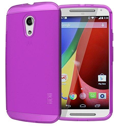 Tudia Lite TPU Bumper Protective Case for Motorola Moto G 2nd Gen 2014 - Purple (Motorola G Cover 2nd Generation)
