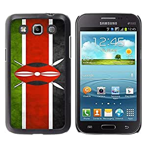 TopCaseStore / la caja del caucho duro de la cubierta de protección de la piel - Kenya Grunge Flag - Samsung Galaxy Win I8550 I8552 Grand Quattro