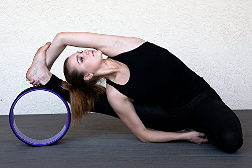 Rolling With It Dharma Yoga Wheel 13 inch x 5 inch Perfect Beginner & Advanced Prop For Back Bends Inversions Stretching Support Eco Friendly Super Durable Sweat Resistant Free Cork Block