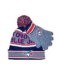MLB Boy's Toronto Blue Jays Pom Pom Toque & Gloves Giftset Size 4-6X