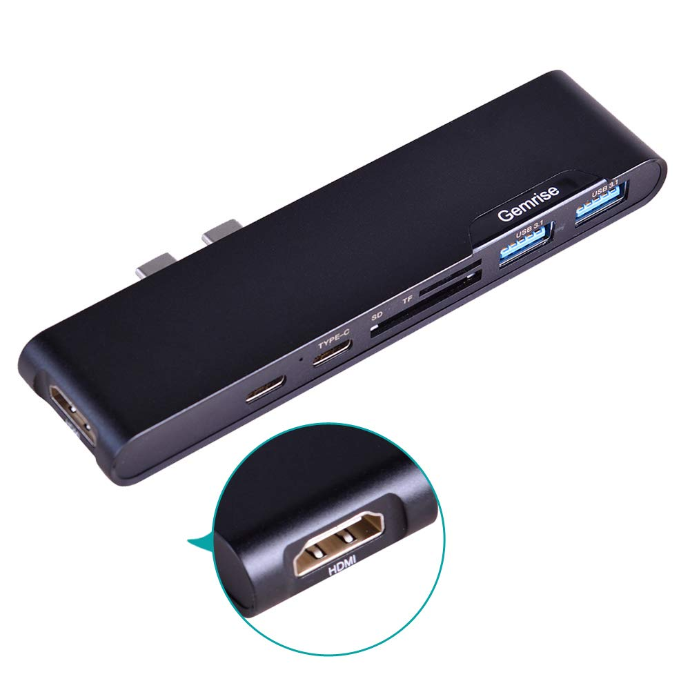 USB Type C Hub Compatible with MacBook Pro 7-in-1 Adapter,