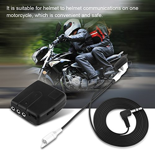 1×Bluetooth Motorcycle Helmet Interphone, Keenso BT Interphone Bluetooth Motorbike Motorcycle Helmet Intercom Headset V6 1200M 6 Riders by Keenso (Image #5)