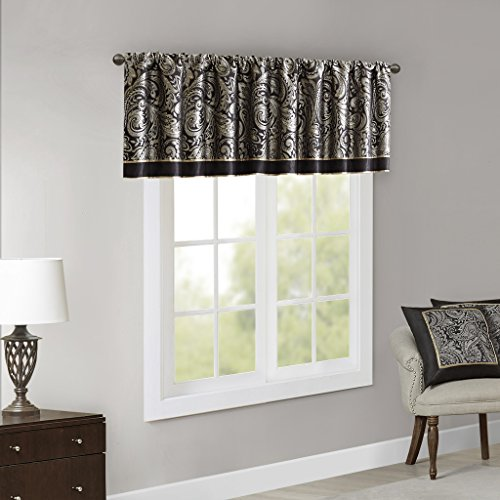 Aubrey Jacquard Rod Pocket Valance , Classic Elegant, used for sale  Delivered anywhere in USA