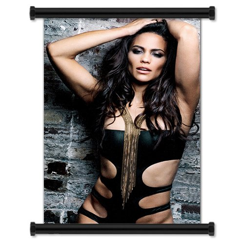 Paula Patton Sexy Hot Hollywood Actress Fabric Wall Scroll P