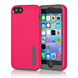 iPhone 5 5S SE Case, Incipio DualPro Case Shockproof Hard Shell Hybrid Authentic Rugged Cover - Charcoal/Pink