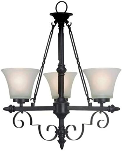 Portfolio 3-Light Bronze Traditional Chandelier Oil Rubbed Bronze