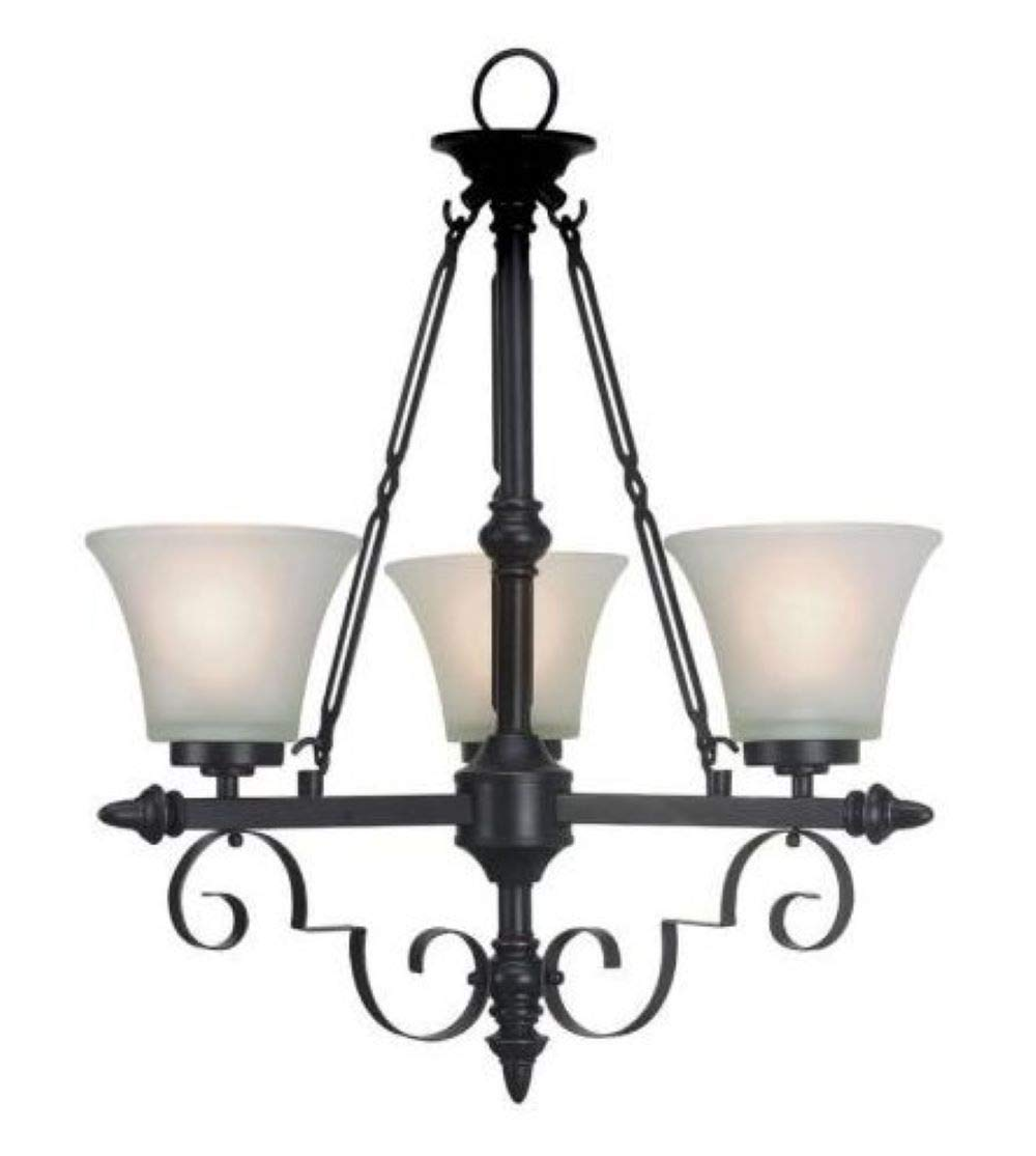 new concept 73fd3 db0df Portfolio 3-Light Bronze Traditional Chandelier (Oil Rubbed ...