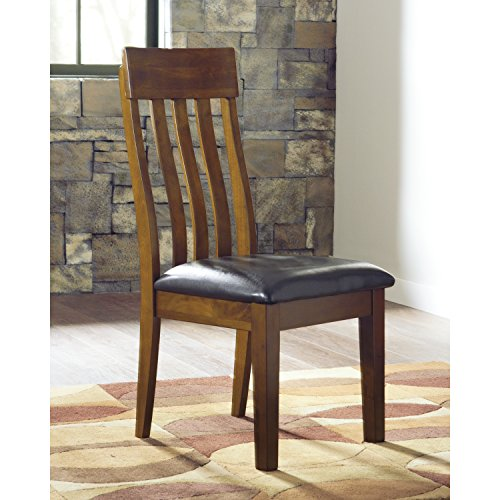 Affordable Signature Design by Ashley Ralene Medium Brown Dining Side Chair (Set of 2) in Brown