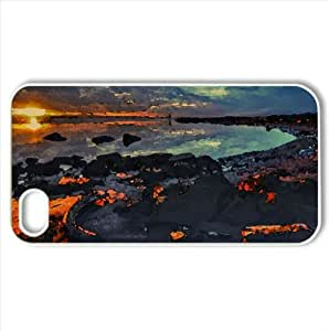 Driftwood HDR Watercolor style Cover iPhone 4 and 4S Case (Beach Watercolor style Cover iPhone 4 and 4S Case)