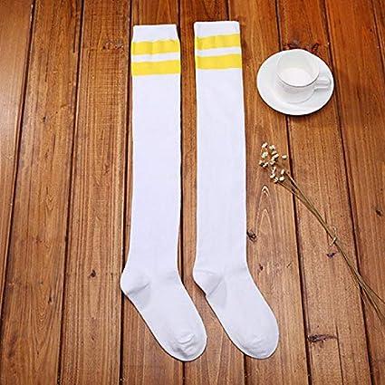 FUWUX Home Calcetines de béisbol japoneses de Primavera y Verano en Medias, a Rayas,