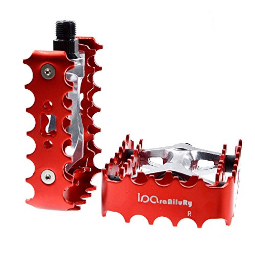 Big Foot Road Bicycle Bike Aluminum Alloy Platform Pedals, MT Bike Pedals, CNC Steel Axle 9/16