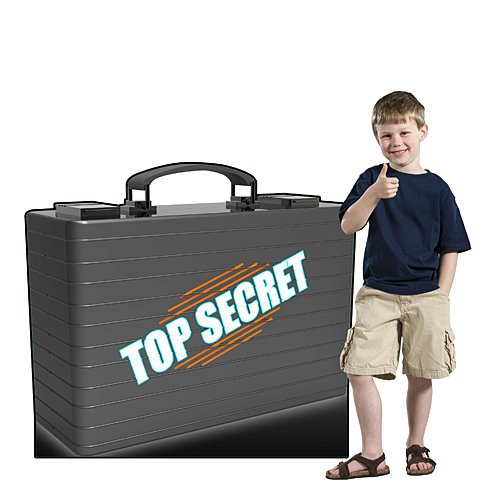 3 ft. 6 in. Top Secret Briefcase Standee Standup Photo Booth Prop Background Backdrop Party Decoration Decor Scene Setter Cardboard Cutout -