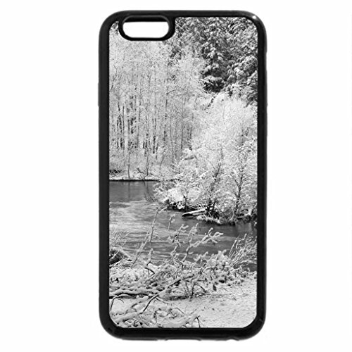 iPhone 6S Case, iPhone 6 Case (Black & White) - Winter-river