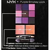 NYX Purple Smokey Look Kit, 9 eye shadows/ 2 lip colors, applicator/ mirror