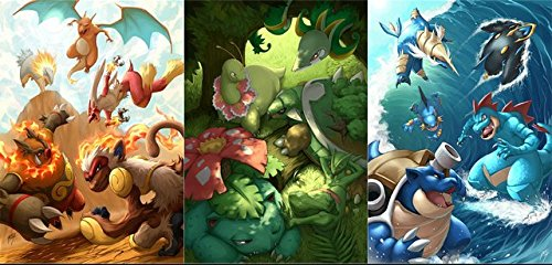 Lawrence Painting Pokemon Canvas Wall Posters Anime Game Pos