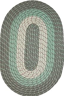 """product image for Constitution Rugs Plymouth Braided Rug in Mist Green (20"""" x 30"""" Oval)"""