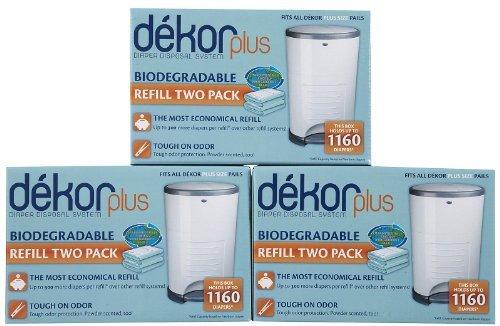 Diaper Dekor Plus Biodegradable Refill - 2 ct - 3 pk by Diaper Dekor