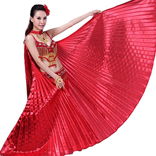 Dance Clothing Costumes (Pilot-trade Women's Professional Belly Dance Costume Angle Isis Wings No Stick Red)