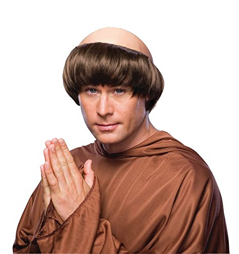 Friar Tuck Monk Costumes (Forum Monk Wig with Tonsure, Brown, One Size)