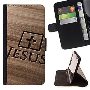 - My God OMG Jesus Christ Cross - - Monedero pared Design Premium cuero del tir?n magn?tico delgado del caso de la cubierta pata de ca FOR Sony Xperia Z3 D6603 Funny House