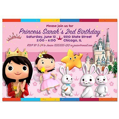 Little Baby Bum Princess Birthday Party Invitations