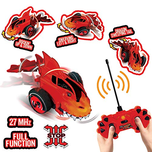Playmind Overtake Radio Control Stunt Car Dragon Tail RC Car for Kids, Boys or Girls