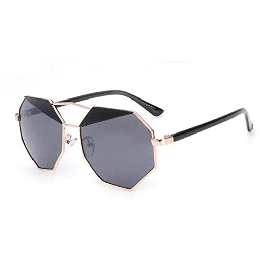 1e10912823 Pink Mirrored Sunglasses Vintage New Design Octagon Shape Uv400 Women  Sunglasses (black)