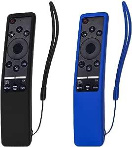 SIKAI 2-Pack Funda Compatible con Mando de Samsung 4K UHD Smart TV BN59-01274A BN59-01242A BN59-01259B Antideslizante Protectora de Goma Suave Carcasa de Silicona Remoto Caso (Negro-Azul): Amazon.es: Electrónica