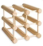 6 bottle wine rack wood - J.K. Adams Hardwood 6-Bottle Wine Rack, Natural